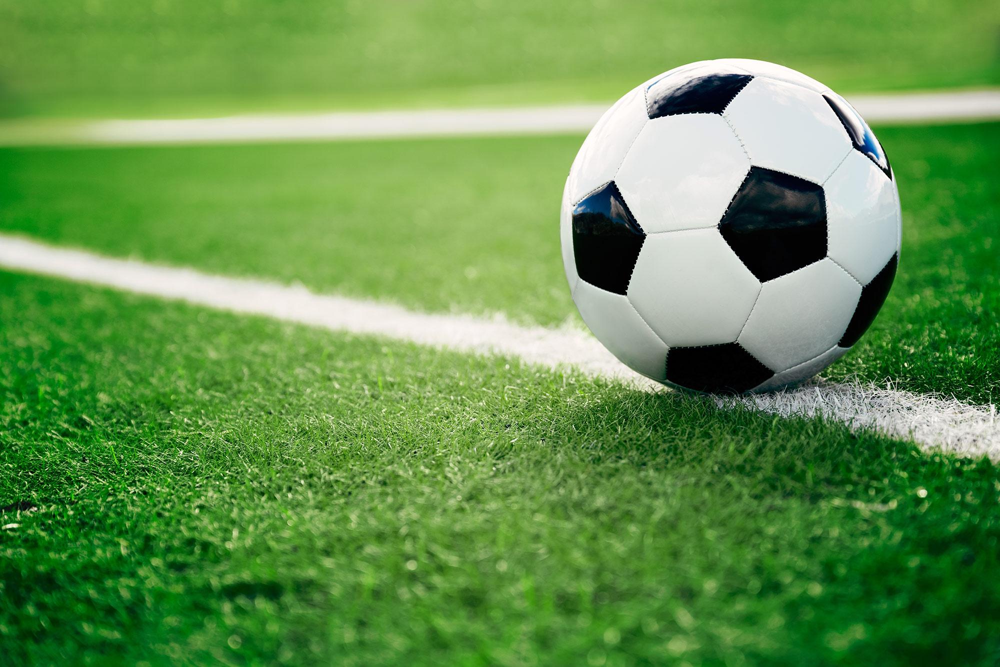 East Bay Soccer Referee Association soccer ball on field